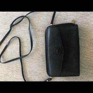 Dooney & Bourke black  vintage crossbody wallet